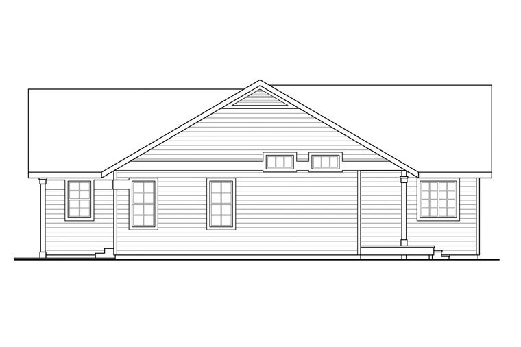 Contemporary, Country, Prairie, Ranch House Plan 60950 with 3 Beds, 2 Baths, 2 Car Garage Picture 2