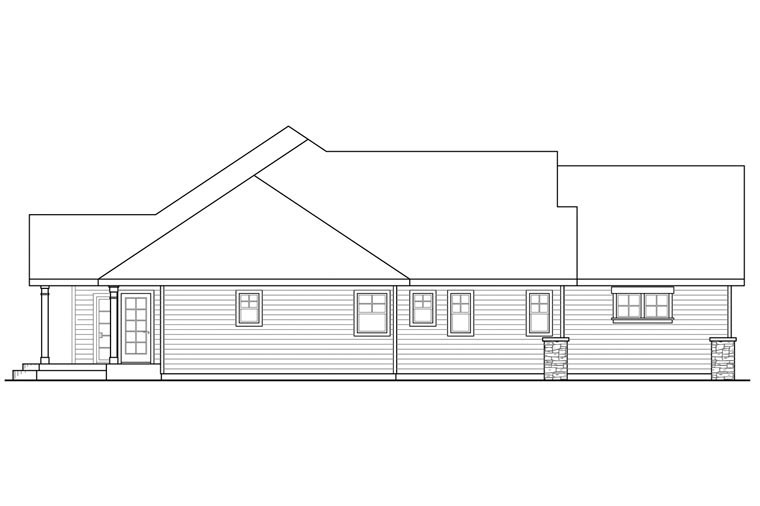Craftsman, Ranch, Traditional House Plan 60954 with 3 Beds, 4 Baths, 3 Car Garage Picture 1