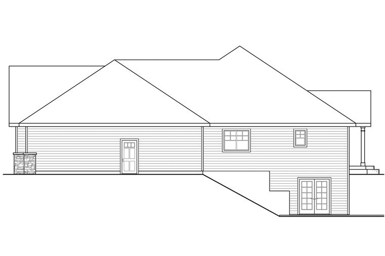 Craftsman, Ranch, Traditional House Plan 60954 with 3 Beds, 4 Baths, 3 Car Garage Picture 2