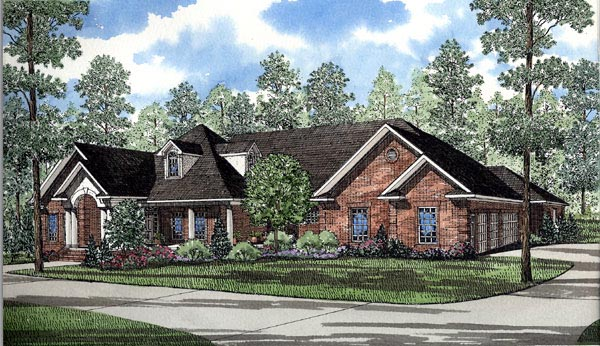 European, Traditional House Plan 61079 with 5 Beds, 5 Baths, 3 Car Garage Elevation