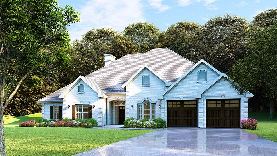 Traditional House Plan 61271 with 4 Beds, 3 Baths, 2 Car Garage Picture 12