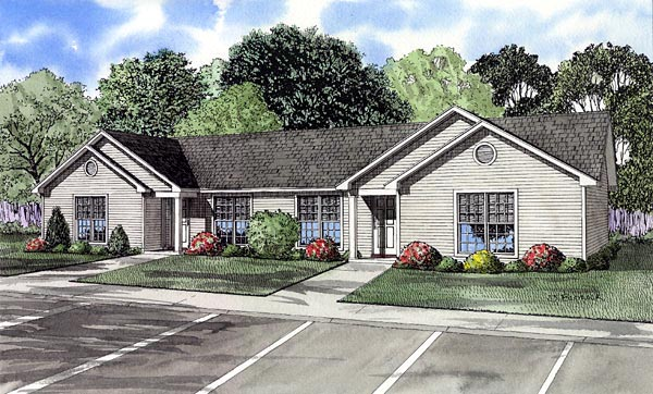One-Story, Ranch Multi-Family Plan 61274 with 6 Beds, 2 Baths Elevation