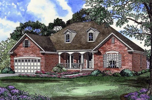 House Plan 61369 with 4 Beds, 2 Baths, 2 Car Garage Elevation
