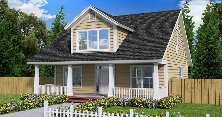 Cape Cod, Country House Plan 61403 with 4 Beds, 4 Baths Front Elevation