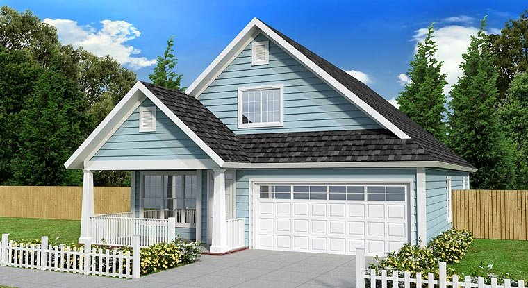 Cottage, Country, Traditional House Plan 61433 with 3 Beds, 3 Baths, 2 Car Garage Elevation