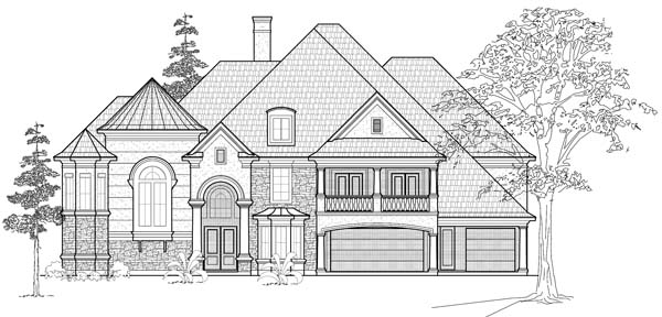 Victorian House Plan 61872 with 6 Beds, 7 Baths, 3 Car Garage Elevation