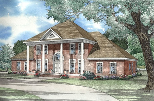 Colonial, Plantation, Southern House Plan 62020 with 5 Beds, 4 Baths Elevation