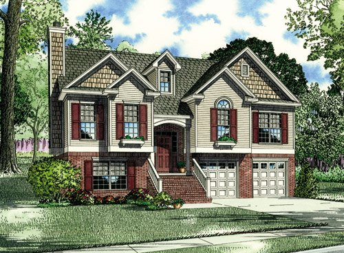 House Plan 62038 with 3 Beds, 3 Baths Elevation