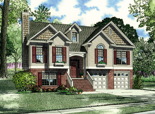 House Plan 62038 with 3 Beds, 3 Baths Front Elevation