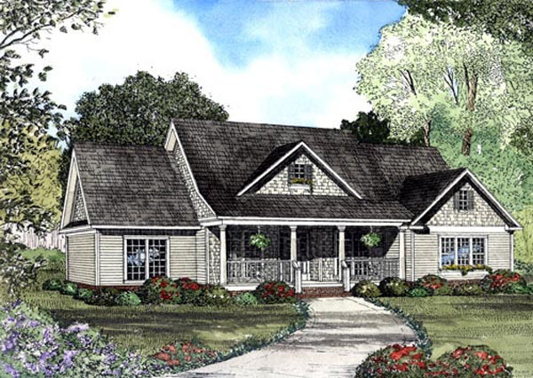 Country House Plan 62065 with 4 Beds, 4 Baths, 2 Car Garage Elevation