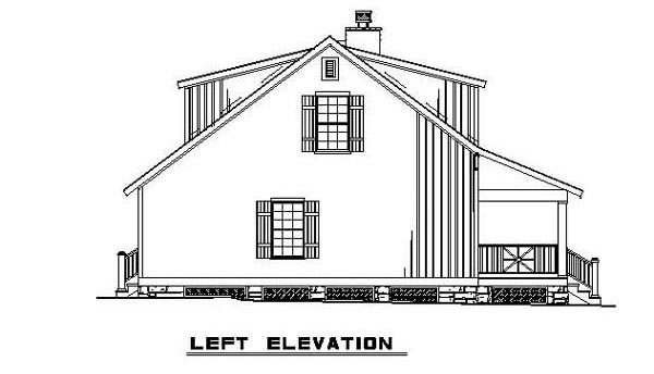 Bungalow, Cabin, Country, Southern House Plan 62131 with 3 Beds, 2 Baths Picture 10