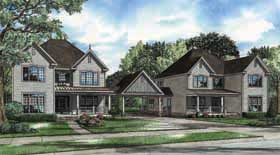 Country, Farmhouse, Southern, Traditional Multi-Family Plan 62184 with 8 Beds, 8 Baths, 4 Car Garage Elevation