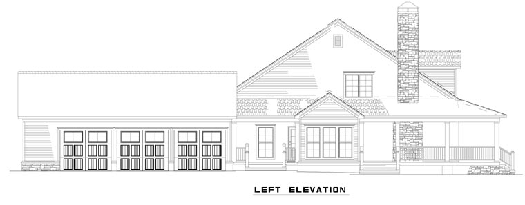 Country, Farmhouse House Plan 62207 with 4 Beds, 3 Baths, 3 Car Garage Picture 1