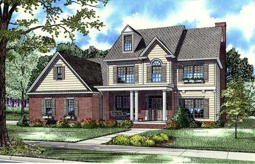 House Plan 62258 with 4 Beds, 4 Baths, 2 Car Garage Front Elevation