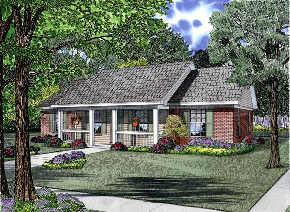 Country, Ranch House Plan 62386 with 3 Beds, 2 Baths Elevation