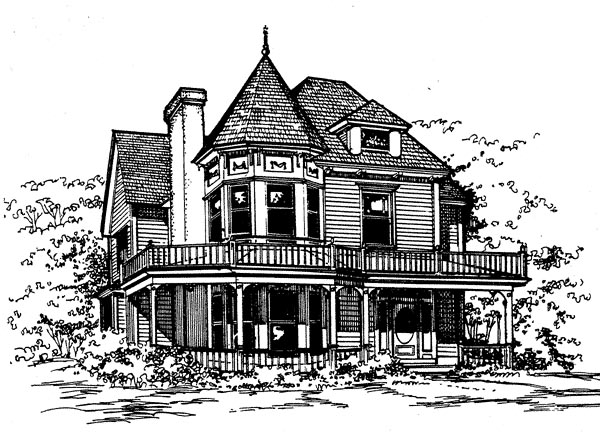 Victorian House Plan 62411 with 3 Beds, 3 Baths Elevation