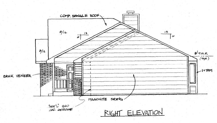 One-Story, Ranch House Plan 62562 with 3 Beds, 2 Baths, 2 Car Garage Picture 2