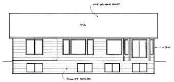 Ranch, Traditional House Plan 62622 with 2 Beds, 2 Baths, 2 Car Garage Rear Elevation