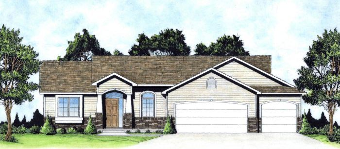 Traditional House Plan 62634 with 3 Beds, 2 Baths, 3 Car Garage Elevation
