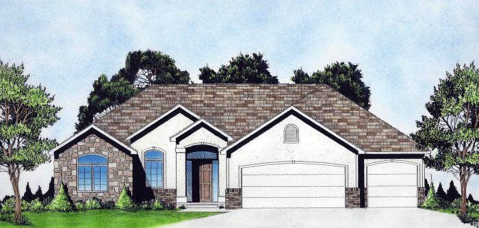 Traditional House Plan 62646 with 3 Beds, 2 Baths, 3 Car Garage Elevation