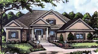 Colonial, Traditional House Plan 63004 with 4 Beds, 3 Baths, 2 Car Garage Elevation