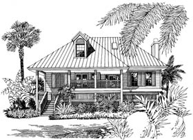 Coastal, Southern House Plan 63051 with 2 Beds, 3 Baths Front Elevation