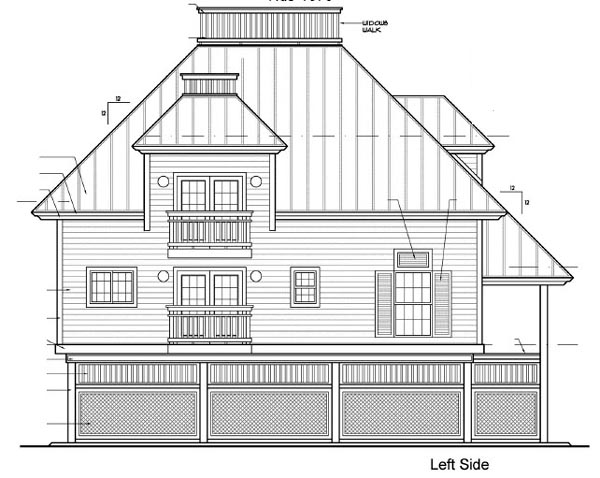 Coastal House Plan 63110 with 3 Beds, 2 Baths Picture 1