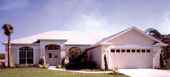 Mediterranean, One-Story House Plan 63125 with 3 Beds, 2 Baths, 2 Car Garage Elevation