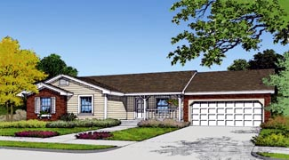 Country, Farmhouse, Traditional House Plan 63170 with 3 Beds, 2 Baths, 2 Car Garage Elevation