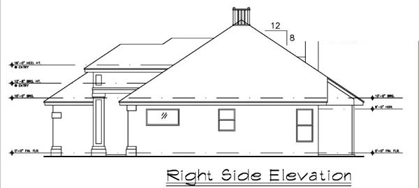 Contemporary, Florida, Mediterranean, Narrow Lot, One-Story House Plan 63198 with 3 Beds, 2 Baths, 2 Car Garage Picture 2