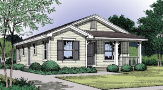 Country, Traditional House Plan 63205 with 3 Beds, 1 Baths Front Elevation