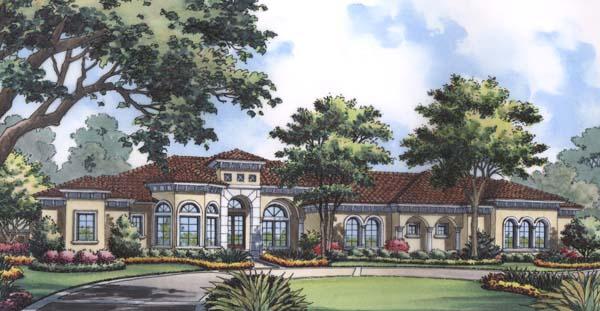 Florida, Mediterranean House Plan 63225 with 4 Beds, 6 Baths, 3 Car Garage Elevation