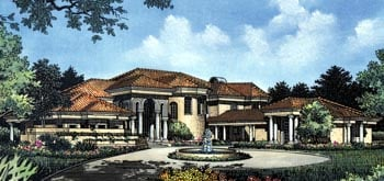 Southwest House Plan 63268 with 4 Beds, 5 Baths, 3 Car Garage Elevation