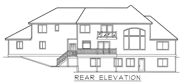 Country, European House Plan 63546 with 3 Beds, 3 Baths, 3 Car Garage Rear Elevation