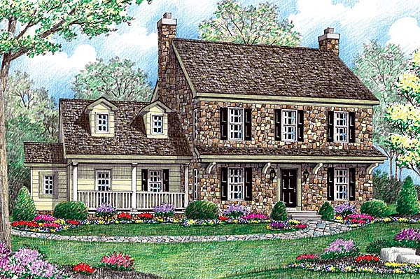 Farmhouse House Plan 64403 with 4 Beds, 3 Baths, 2 Car Garage Front Elevation