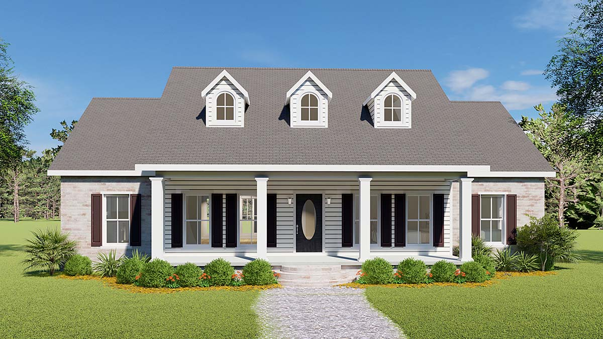 Country, One-Story, Southern House Plan 64501 with 3 Beds, 3 Baths, 2 Car Garage Elevation