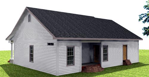 One-Story House Plan 64557 with 2 Beds, 2 Baths, 1 Car Garage Picture 1
