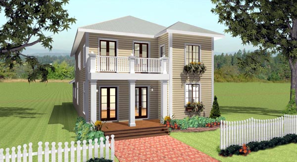 Traditional House Plan 64580 with 4 Beds, 3 Baths, 2 Car Garage Elevation