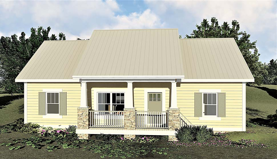 Bungalow, Cottage, Country House Plan 64595 with 3 Beds, 2 Baths Elevation