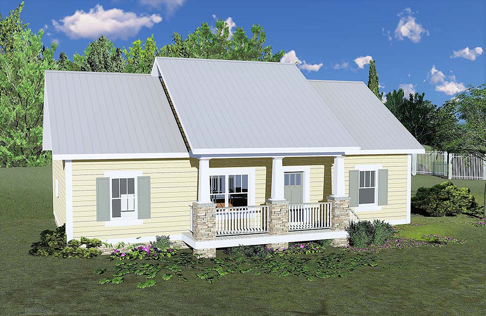Bungalow, Cottage, Country House Plan 64595 with 3 Beds, 2 Baths Picture 1