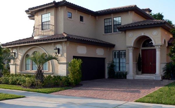 Italian, Mediterranean House Plan 64616 with 3 Beds, 4 Baths, 2 Car Garage Elevation