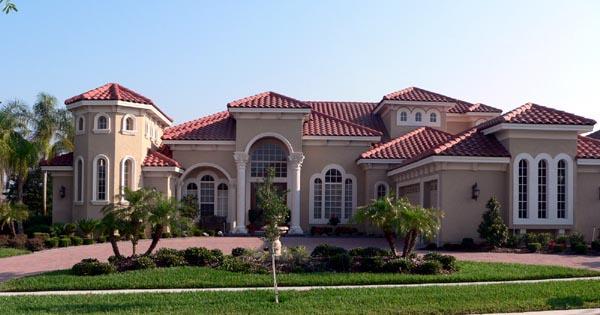 Florida, Italian, Mediterranean House Plan 64674 with 4 Beds, 5 Baths, 3 Car Garage Elevation