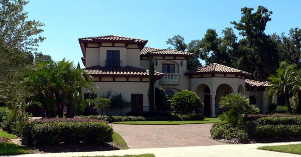 European House Plan 64721 with 4 Beds, 6 Baths, 4 Car Garage Front Elevation