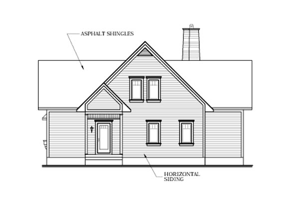 Country, Craftsman House Plan 64808 with 3 Beds, 4 Baths Rear Elevation
