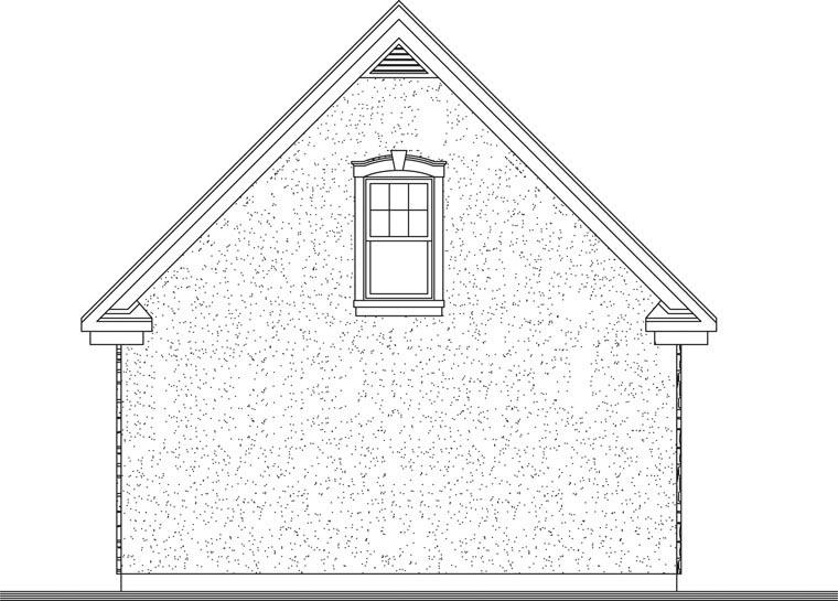Craftsman 2 Car Garage Plan 64837 Rear Elevation
