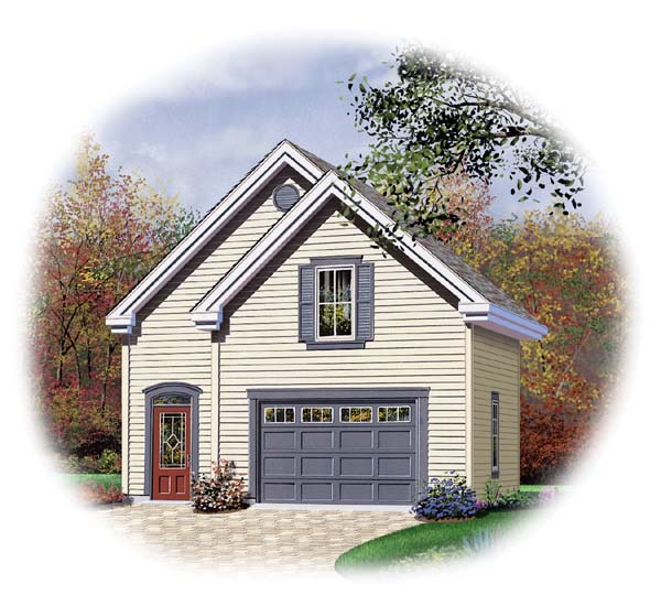 2 Car Garage Plan 64839 Elevation