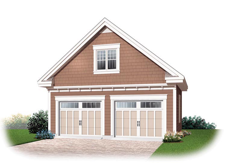 Craftsman 2 Car Garage Plan 64841 Front Elevation
