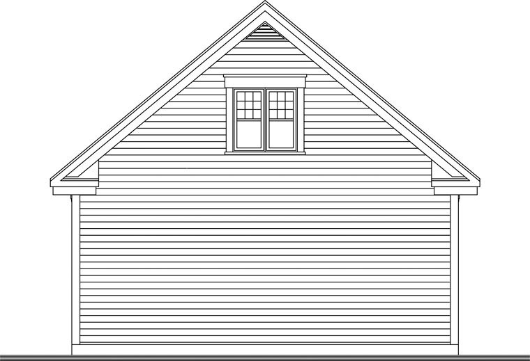 Craftsman 2 Car Garage Plan 64841 Rear Elevation