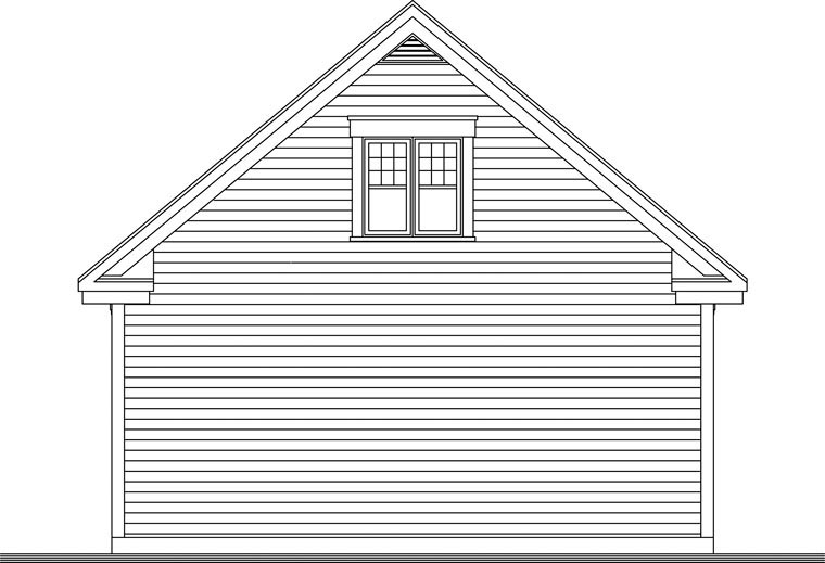 Craftsman 2 Car Garage Plan 64842 Rear Elevation