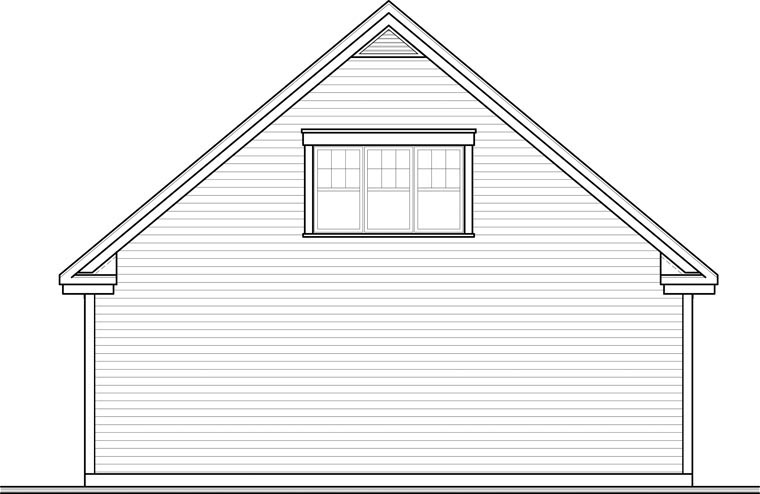 Craftsman 3 Car Garage Plan 64843 Rear Elevation